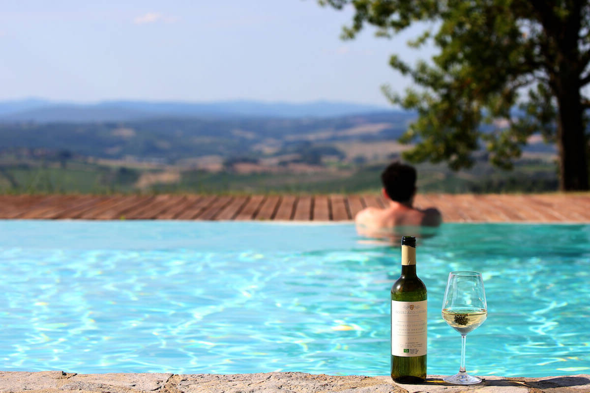 Your panoramic pool in Chianti Classico